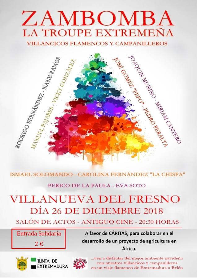 El Ayuntamiento organiza una zambombada de villancicos flamencos a favor de Cáritas