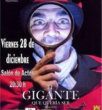 La obra 'El Gigante que quería ser pequeño' de Samarkanda Teatro llega al Salón de Actos