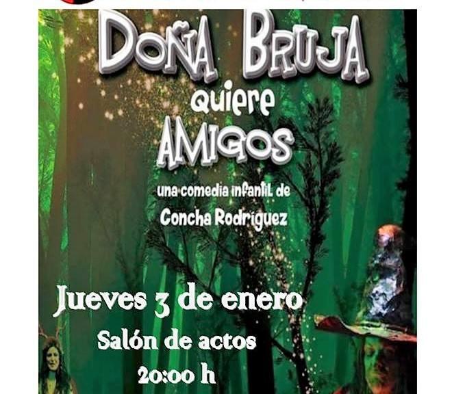 El público infantil disfrutará de la obra 'Doña Bruja quiere amigos'