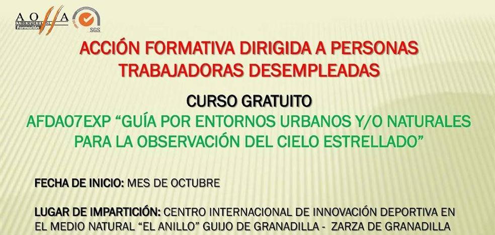 La Junta de Extremadura oferta un curso de Guía de Observación de Estrellas