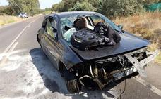Cuatro heridos, uno de ellos grave, en una salida de vía en Mengabril