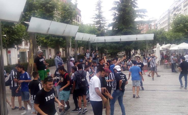 Los aficionados pacenses tomaron Calahorra