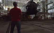 Graban los restos de un prototipo del único transbordador soviético que surcó el espacio