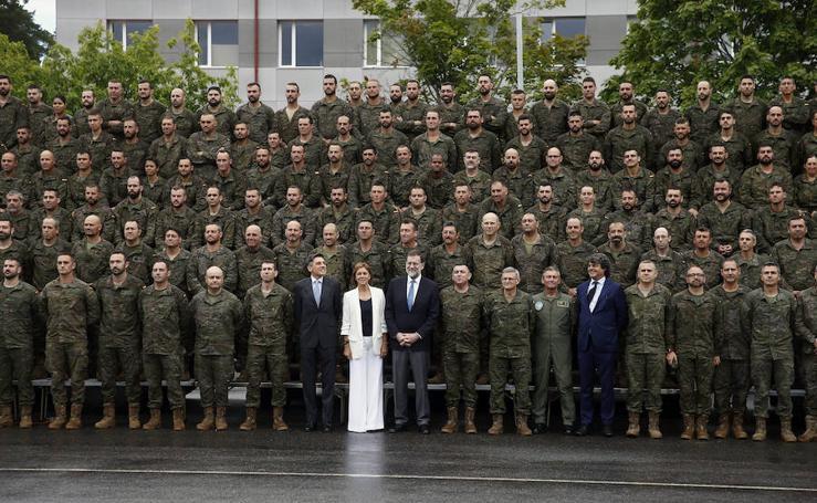 Mariano Rajoy visita a la Brigada Extremadura en Letonia
