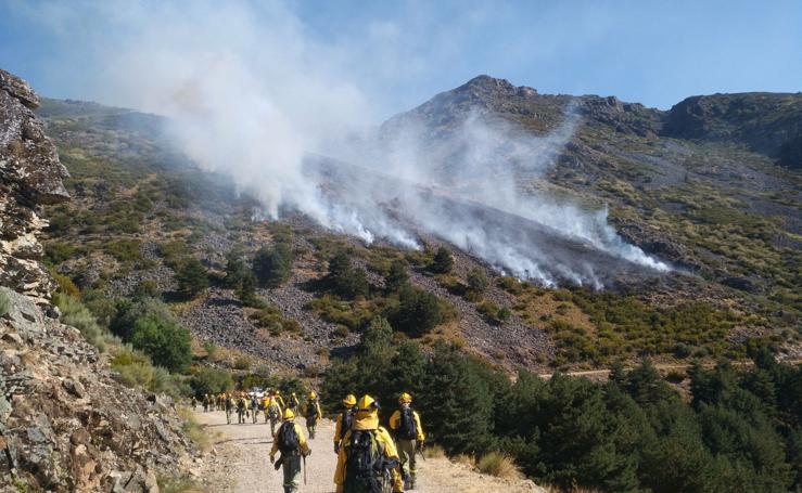 Incendio cerca de Hervás
