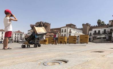 La Plaza Mayor de Cáceres arreglará sus fuentes tras siete veranos sin uso por deficiencias