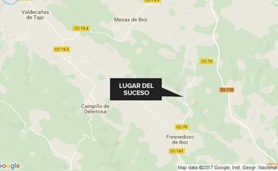 Tres heridos tras una salida de vía en la comarcal que une Fresnedoso y Bohonal de Ibor