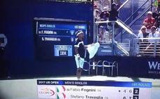 Fognini insulta a la juez de silla: «puta chupapollas»
