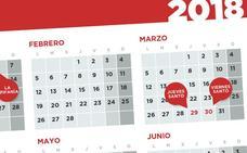 Extremadura aprueba el calendario de festivos para 2018