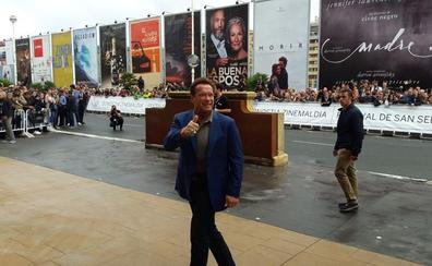 Arnold Schwarzenegger ya está en San Sebastián