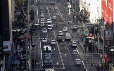 La Gran Vía de Madrid será semipeatonal de forma permanente a partir de Navidad