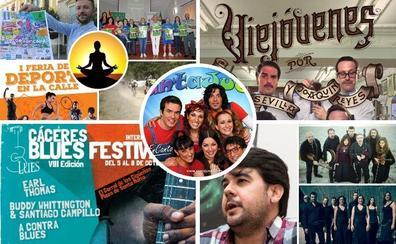 Planes vintage y solidarios, a ritmo de blues en Extremadura