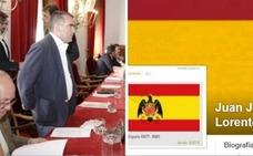 Denuncian que el alcalde de Casas del Monte luce la bandera franquista en Facebook