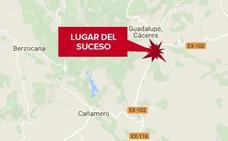 Herido un motorista al sufrir un accidente cerca de Guadalupe