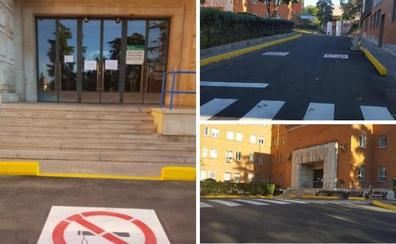 Concluida la reforma y señalización del antiguo acceso principal del hospital San Pedro de Alcántara