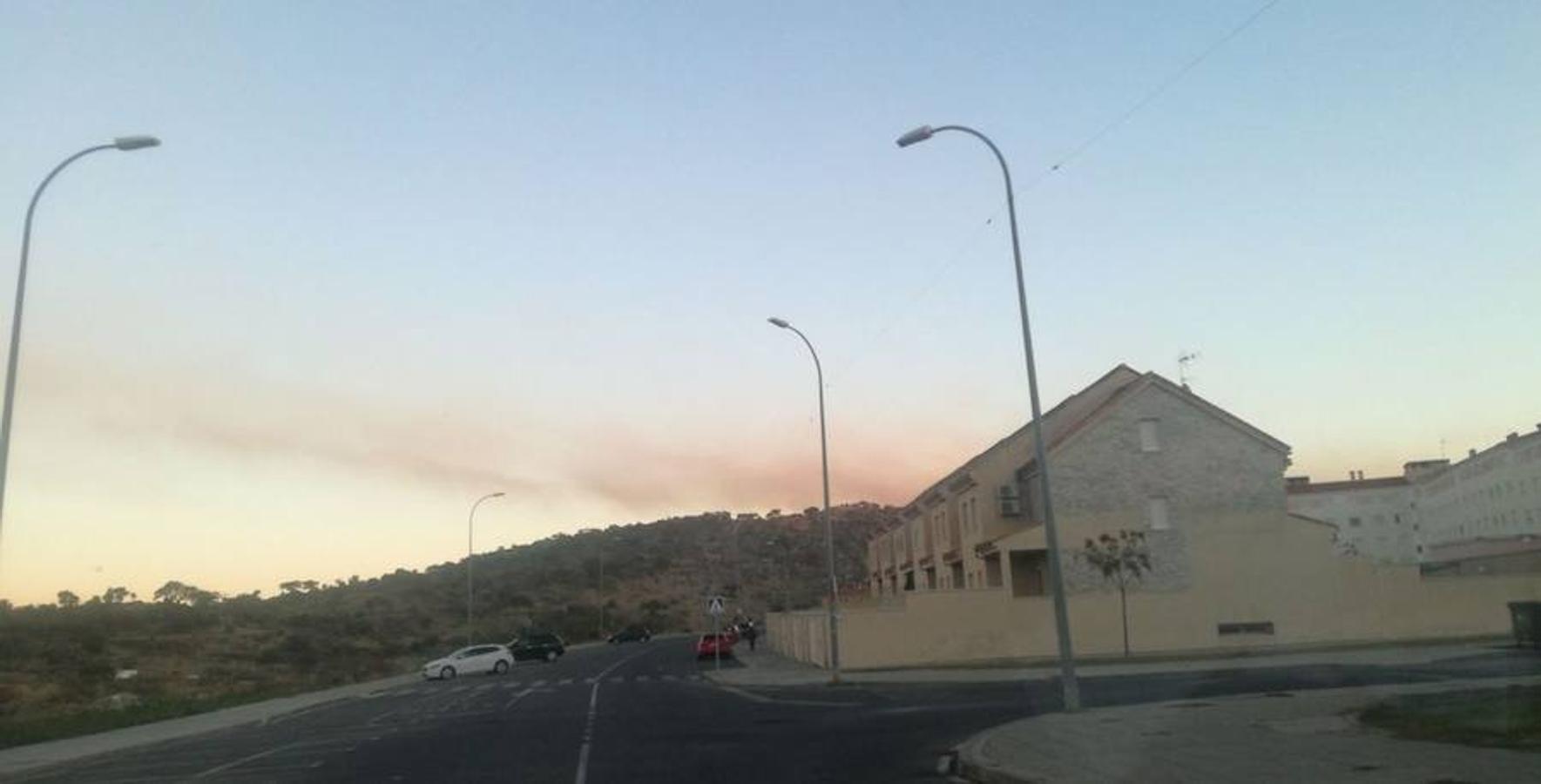 Incendio en la localidad cacereña de Navaconcejo