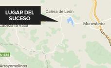 Fallece un hombre de 74 años arrollado por un gran tronco en Calera de León