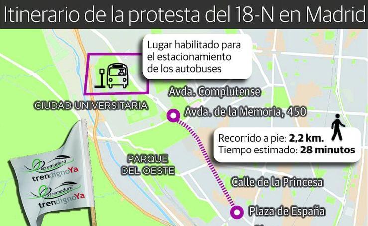 Itinerario de la protesta del 18-N en Madrid