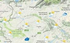 Lluvias débiles y ascenso de las temperaturas en Extremadura