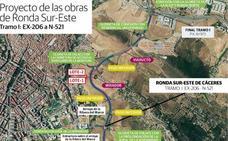 Último trámite para el inicio de la obra de la Ronda Sureste de Cáceres