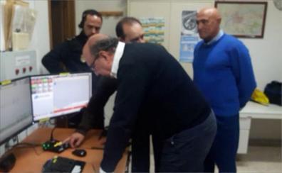 Germán López felicita a los policías que trabajaron en Nochevieja