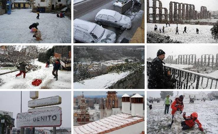 Ocho años de una nevada histórica en Extremadura