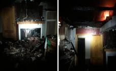 Un incendio en Cuacos de Yuste afecta a tres viviendas