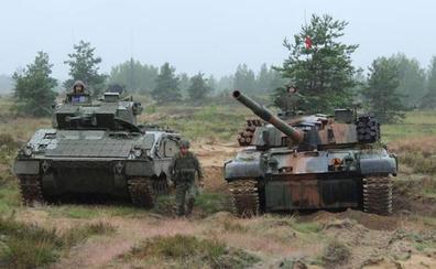 Los primeros 170 militares de la Brigada Extremadura regresan de Letonia