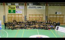 Presentan en Coria los equipos de baloncesto de la Asociación Caurium