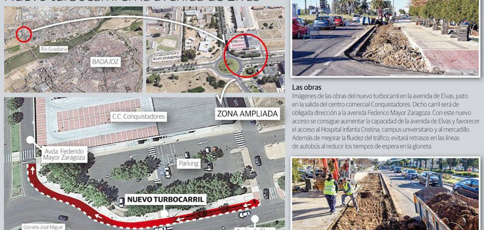 Badajoz tendrá un \'turbocarril\' que conectará la glorieta del Puente ...