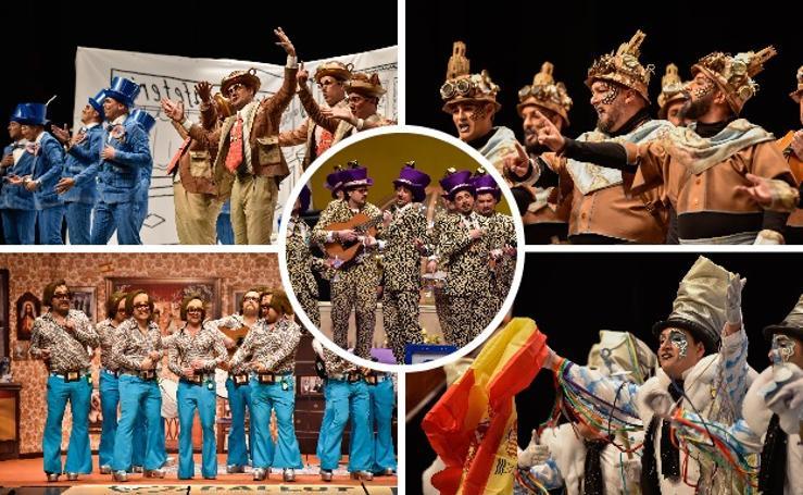 La primera jornada de las semifinales del concurso de murgas de Badajoz, en imágenes