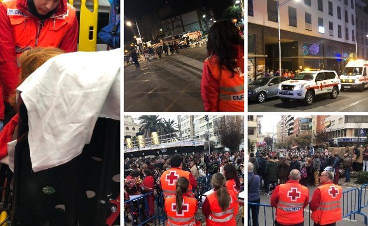 Trabajo realizado por el personal de Cruz Roja durante el fin de semana en Badajoz