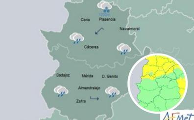 Hoy regresa la lluvia y mañana vuelve la alerta por nieve a Extremadura