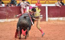 Luis David Adame, herido por asta de toro en la Feria de Olivenza