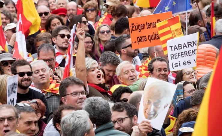 La movilización de la plataforma por Tabarnia, en imágenes