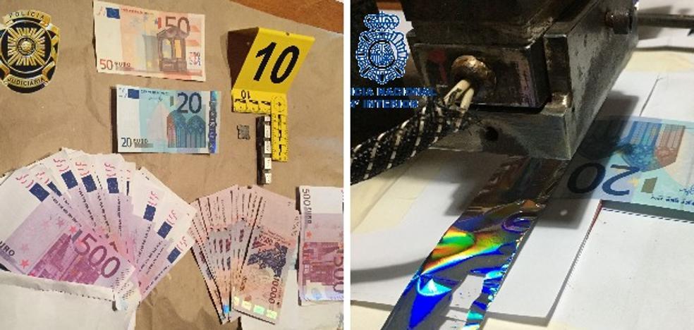 Detectan en Badajoz una red internacional de billetes falsos