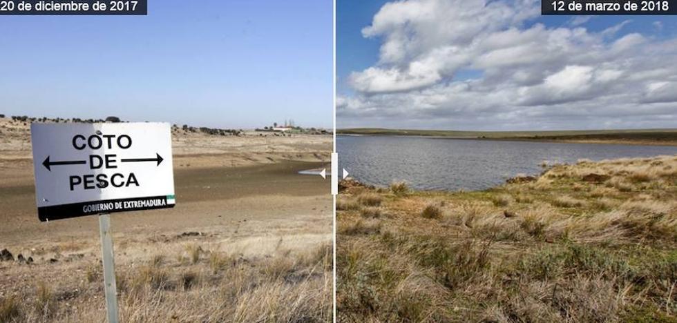 El pantano del Guadiloba se prepara para otro posible desembalse mañana