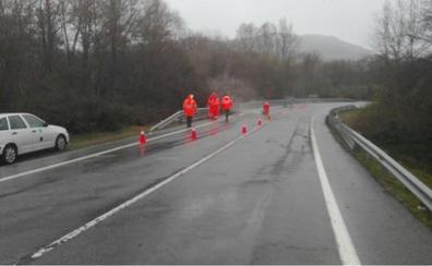 Varias carreteras cortadas por el temporal en el norte de Cáceres