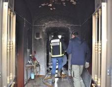 Un brasero de picón causa un incendio en una vivienda de Villanueva del Fresno