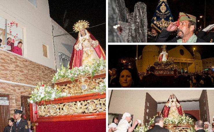 La procesión del Dulce Nombre de María se estrenó en el Cerro
