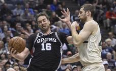 Un doble-doble de Gasol no impide la derrota de los Spurs