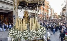 Jueves Santo con paso de agua para las cofradías de Badajoz