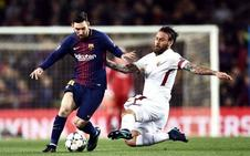 Sin alardes, sin Messi, pero goleando