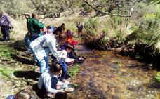 Taller infantil de bateo de minerales en Higuera de Albalat