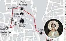 La bajada de la patrona de Cáceres abre esta tarde su Novenario más ambicioso