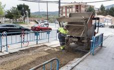 La calle Manuel Revilla Castán de Plasencia acumula seis roturas consecutivas de la red de agua