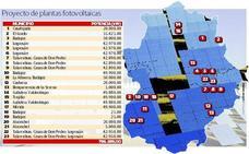 El entorno de Badajoz y La Siberia copan las nuevas plantas fotovoltaicas