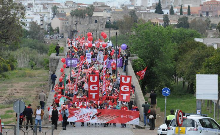 Manifestación del Primero de Mayo en Mérida