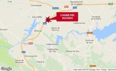 Cuatro heridos en una salida de vía en la A-5 en Almaraz