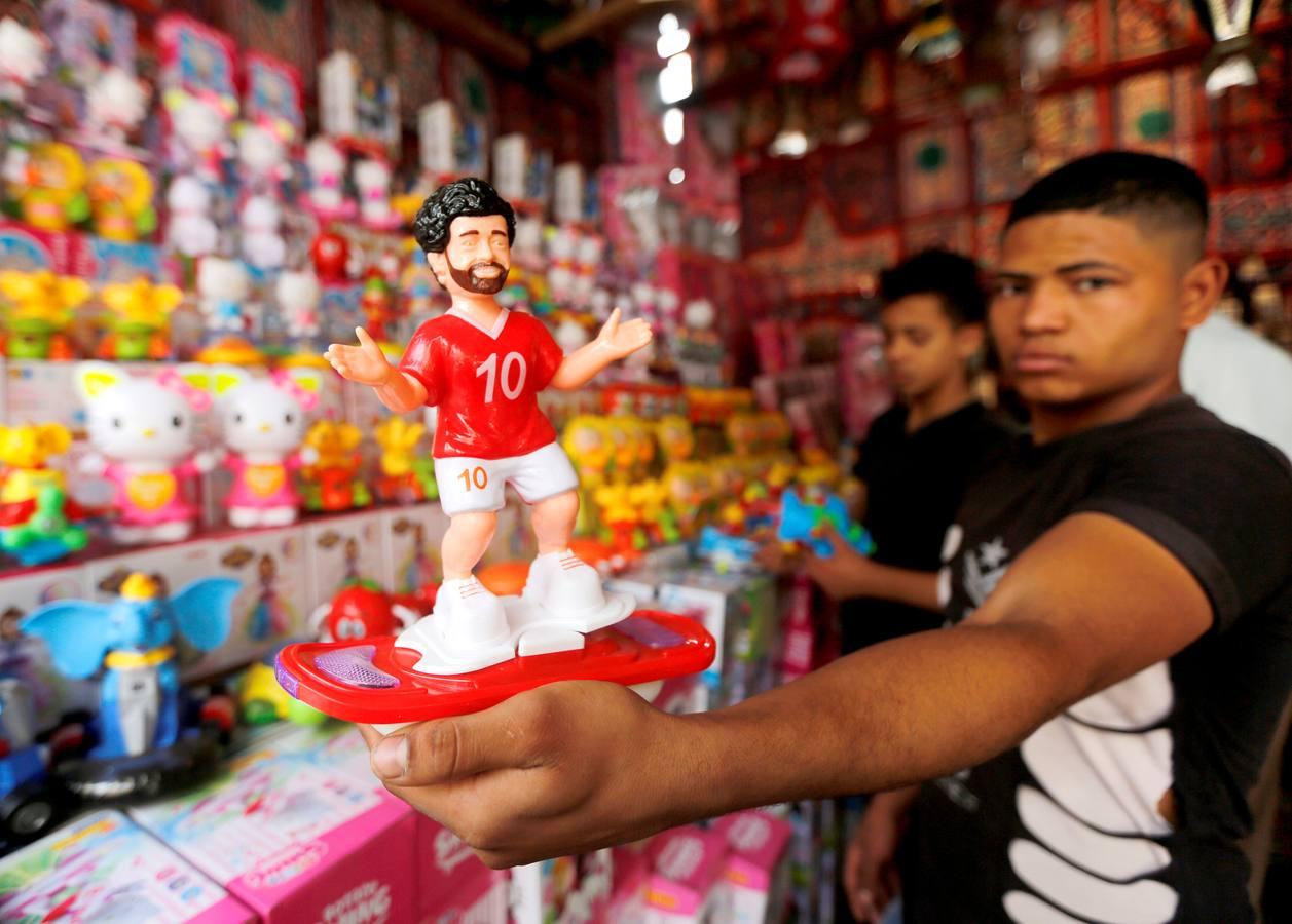 El jugador del Liverpool, Mohamed Salah, ídolo en Egipto